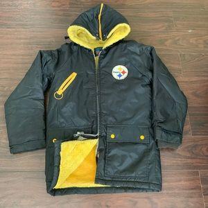 RARE Vtg 70s Pittsburgh Steelers Hood Parka Jacket